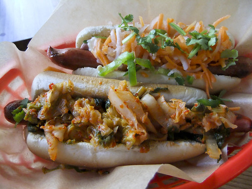 """Ginny"" Kimchi Hot Dog and ""Vinh"" Hot Dog, Asiadog"
