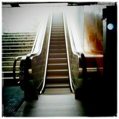New Rolltreppe (manganite) Tags: mobile tag3 taggedout subway bonn tag2 tag1 escalator vignette