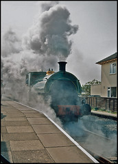 Full Steam Ahead! (tatraškoda) Tags: heritage film train 35mm geotagged nikon br kodak railway steam preserved analogue elr f5 gnr lwr bellerophon 040 saddletank lincolnshirewolds 1438 peckett 10millionphotos ektar100