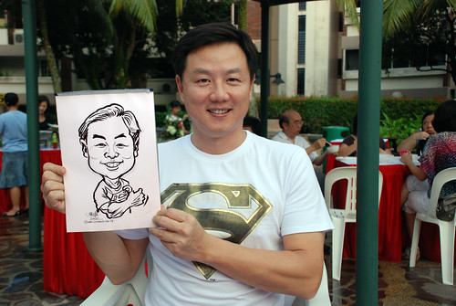 caricature live sketching for birthday party 16042011 - 8