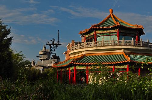 Pagoda and Battleship