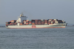 OOCL NORFOLK (John Ambler) Tags: water sign docks call ship norfolk vessel container solent southampton imo oocl mmsi ooclnorfolk vrex4 9440045 477189700