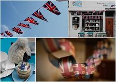Royal Wedding 265/365 (gravity_grave) Tags: wedding england cake shop manchester dof tea bokeh kate flag royal william teapot british 365 bunting didsbury royalwedding teacosy project365 365project