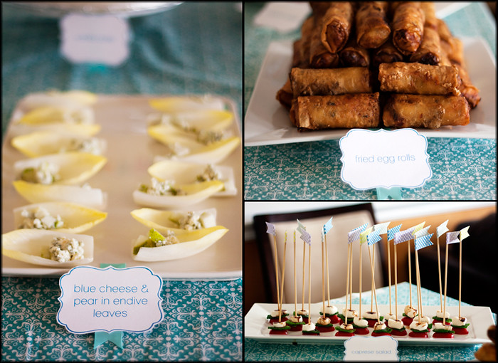 Hey Love's First Birthday Party - the savory finger foods