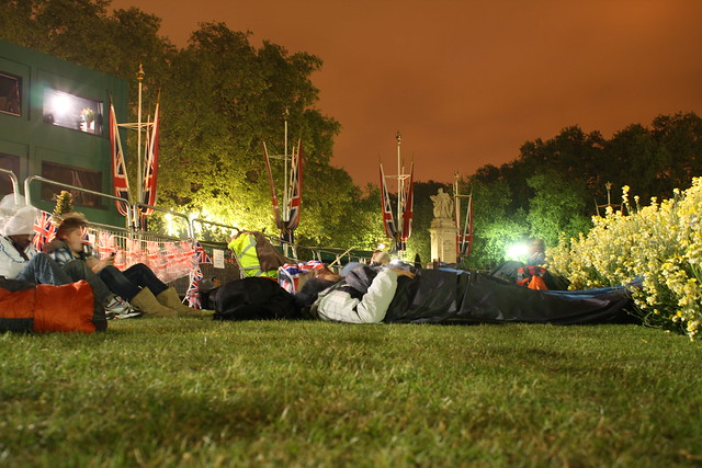 Royal Campers at Buckingham Palace
