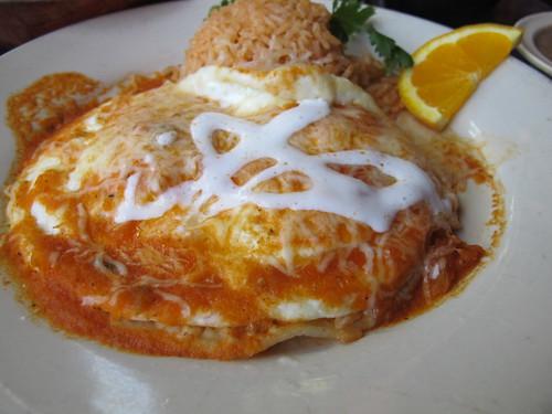 Huevos Ranchos at La Golondrina Cafe