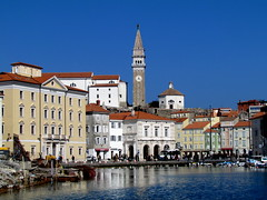 Piran (twiga_swala) Tags: old church saint st architecture port marina george campanile slovenia venetian piran slovenija adria istria istra cerkev pirano svetega jurija