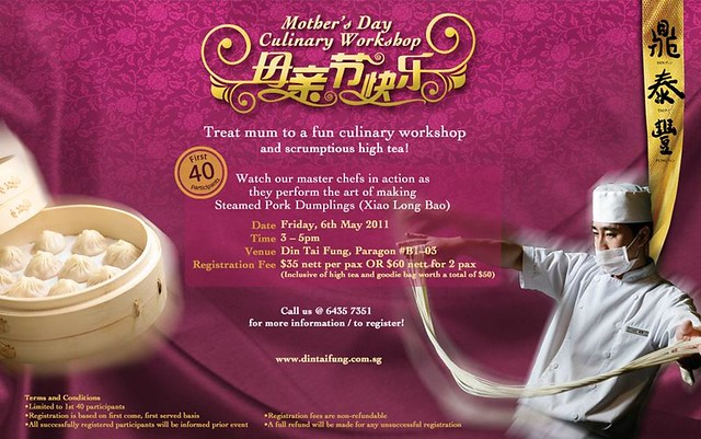 Din Tai Fung - Mother's Day Culinary Workshop
