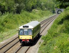 New Bubble (R~P~M) Tags: uk greatbritain england train unitedkingdom buckinghamshire railway tunnel 121 brill bucks bubblecar dmu chilternrailways multipleunit dbregio