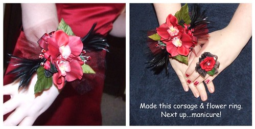 corsage & ring