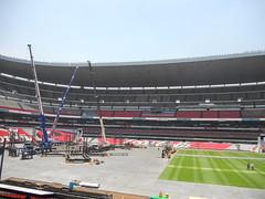 Tercer día de montaje - Estadio Azteca 25