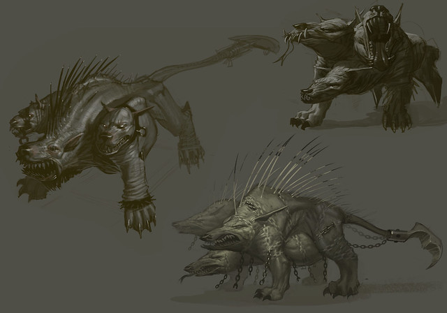 Cerberus sketch by Izzy