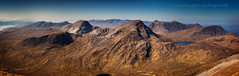 Sgorr Ruadh Panorama (Tannachy) Tags: uk panorama mountains west nature landscape scotland ross highlands europe britain united north scottish kingdom sunny escocia glen british isles carron lair hillwalking ecosse achnashellach coire