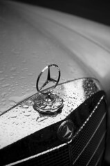 280 SE in rain (scurvy_knaves) Tags: bw oregon portland nikon mercedesbenz pdx 280se d90