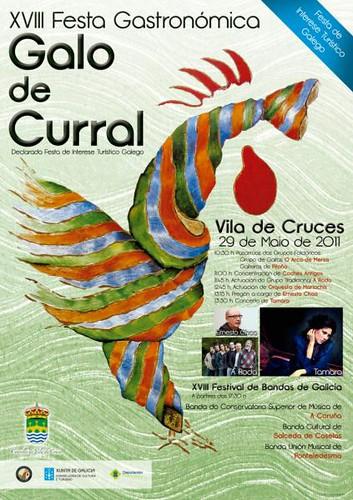 Vila de Cruces 2011 - Festa Gastronómica Galo de Curral - cartel