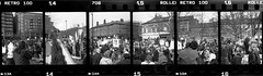 protestscape (pho-Tony) Tags: city blackandwhite bw white 3 black green home pool monochrome rollei demo iso100 hall diy spring hole sheffield politics nick protest police ishootfilm retro demonstration processing conference 100 analogue 135 halfframe democrat liberal lawandorder tory devonshire sprocket libdem liberaldemocrat clegg barkers sprockethole devonshiregreen policing filmisnotdead ilfotol penography penorama canondemic libdemconf ilfotol3 cleggoland