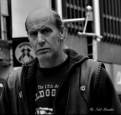Don't mess with me. (Neil. Moralee) Tags: wild portrait blackandwhite music boys face bristol faces neil streetlife oldman mature oldmen hemyock moralee neilmoralee