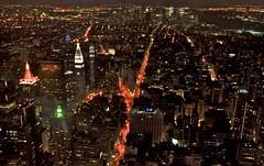 Big City, Bright Lights (Abhimanyu.Ghosh) Tags: nyc usa newyork night america lights nikon empirestatebuilding nightshots bigapple citynights d90 nikond90