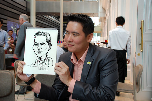 Caricature live sketching for Tetra 60th Anniversary - 2