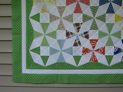 Saltwater Taffy Quilt Top - corner