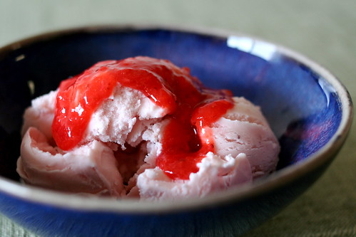 Roasted Strawberry-Buttermilk Ice Cream