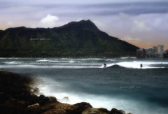 Diamond Head Dreamy (Hawaii Photo's) Tags: ocean sunset vacation seascape water sunrise landscape hawaii long exposure surf waikiki oahu head scenic diamond honolulu