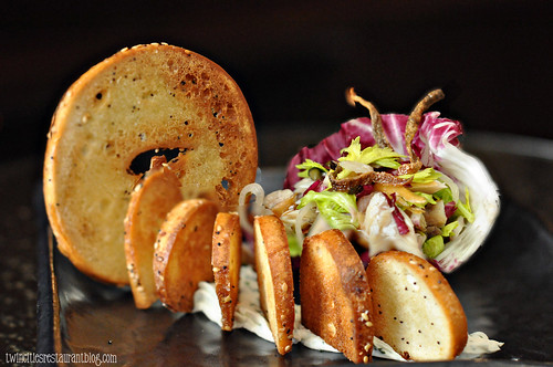 Smoked Trout with Bagel Chips at The Six15 Room at Grand Hotel ~ Minneapolis, MN
