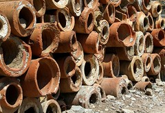 terracotta pipes (Catwards - it's a struggle keeping up) Tags: holiday canon turkey terracotta pipes 7d ephasus 7dcanon