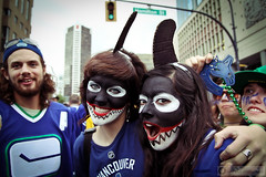 Stanley Cup Playoffs (PiscesDreamer) Tags: street city sports vancouver festive nhl championship downtown britishcolumbia makeup icehockey celebration orca fans facepaint killerwhale stanleycupfinals vancouvercanucks hamiltonstreet gocanucksgo nationalhockeyleague johnnycanuck stanleycupplayoffs westgeorgiastreet gogo