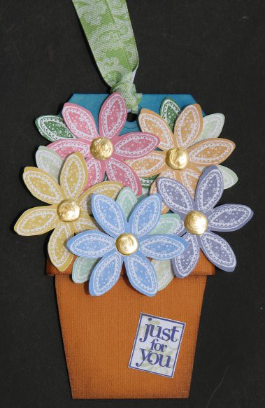 Just For You Flower Pot Tag