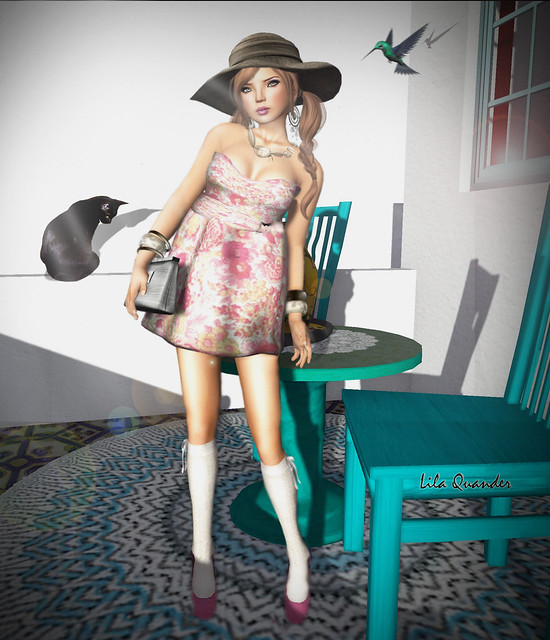[GIEREH] Lucyanni Dress -PinkFloral-& Tinna Hat (Close)