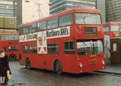 D1131, West Croydon, March 1982 (aecregent) Tags: d croydon lt daimler fleetline parkroyal 157 dms westcroydon d1131 kuc131p