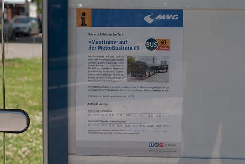 Fahrplan für den Anhängerbus