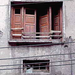 window, old city lahore (Maryam Arif) Tags: lahore window old city geometry gradient graphic space history shadow light spirituality lightness darkness image insight thought time reflection experience structure silence significance