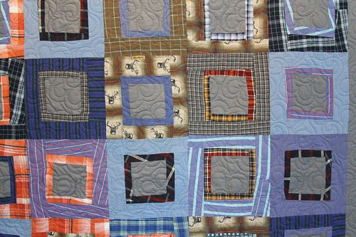 mamaka mills recycled quilt, memory quilt, sustainable quilt, quilt made from shirts, clothing quilt 5