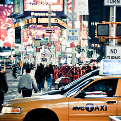 The Deuce (shaymurphy) Tags: new york city nyc sky people usa yellow night america buildings square lights américa nikon skyscrapers cab taxi times chrysler amerika stad scraper アメリカ d300 美国 미국 纽约 америка lamerica lamérique πόλη τησ ニューヨークシティ αμερική 뉴욕시 νε νέασ υόρκησ πόλη νέασ υόρκησニュ