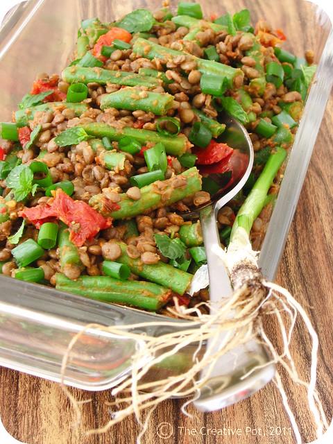 Sundried Tomato, Bean & Lentil Salad a-w