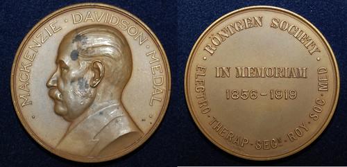 The prestigious Mackenzie Davidson Medal