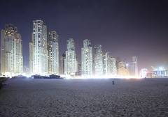 Oasis Beach Night (spiraldelight) Tags: dubai cityscape uae shift jumeirahbeach    eos5dmkii tse17mmf4l