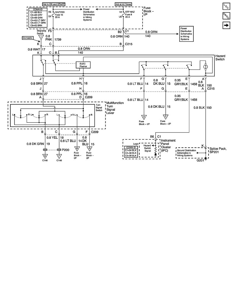 Is It My Multi Function Switch Or Hazard Corvetteforum And Here The Wiring Diagram Using Brake Lights For Please Show Me On Schematic Below How Light Circuit Flows Why Its Possiblefor Swith To Affect Left Rear