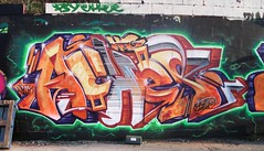 wall wit zuas (HeadAkes) Tags: graffiti aches hogs