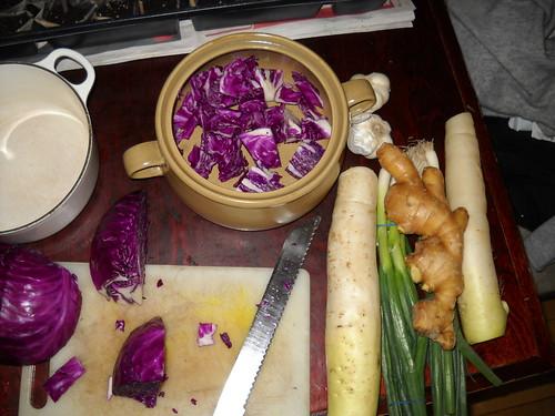 purple cabbage kimchi