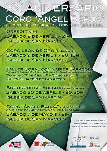"""XX ANIVERSARIO DEL CORO """"ÁNGEL BARJA"""" JJMM-ULE"""