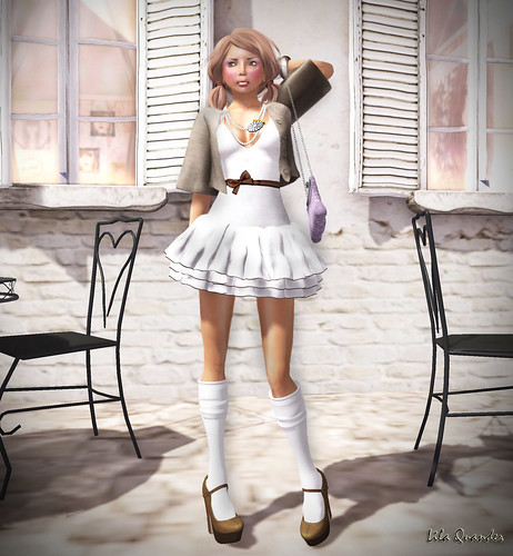 Project Themeory - Grixdale -  Wolf and I - High Waist Skirt - Muted & [croire] kawaii makeup (full face)