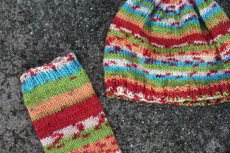 Baby Legwarmers and Matching Hat