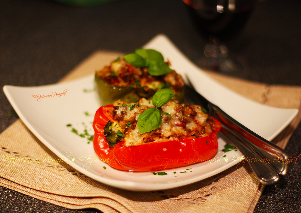 My Stuffed Peppers with Jalapenos, Fresh Herbs, & Hot Smoked Paprika