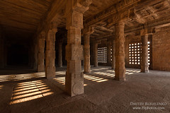 Pillared hall. Airavatesvara Temple, Darasuram (Dmitry Rukhlenko Travel Photography) Tags: india asian temple hall asia indian pillar columns unescoworldheritagesite column pillars hindu hinduism tamilnadu hindutemple chola darasuram pillared airavatesvaratemple greatlivingcholatemples