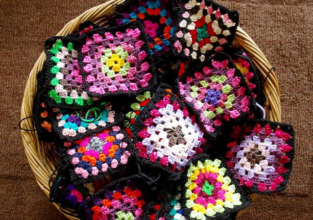 90 granny squares