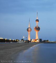 Kuwait Towers (ZiZLoSs) Tags: canon eos towers 7d kuwait aziz sigma1020mm abdulaziz عبدالعزيز zizloss المنيع 3aziz canoneos7d almanie abdulazizalmanie httpzizlosscom