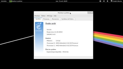 gnome 3 sous Archlinux 64 bits